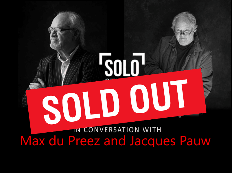 Breakfast in conversations with Max du Preez and Jacques Pauw at Solo Studios Riebeek Valley