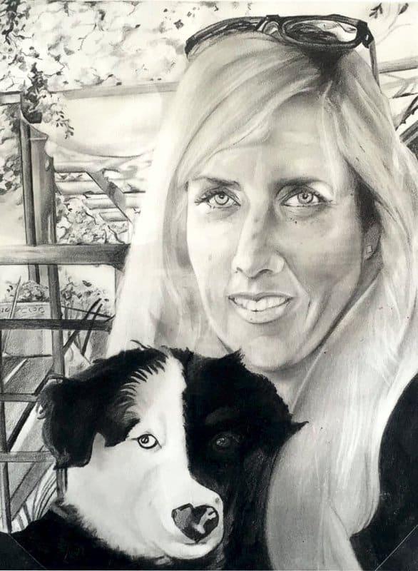 Willem Vries Commissioned portrait Sharon