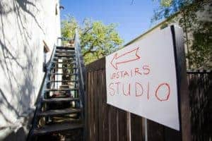 The sign to Studio Leila Fanner