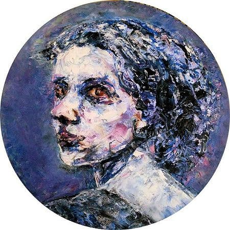 Purple portrait 2016 Oil on canvas 40cm