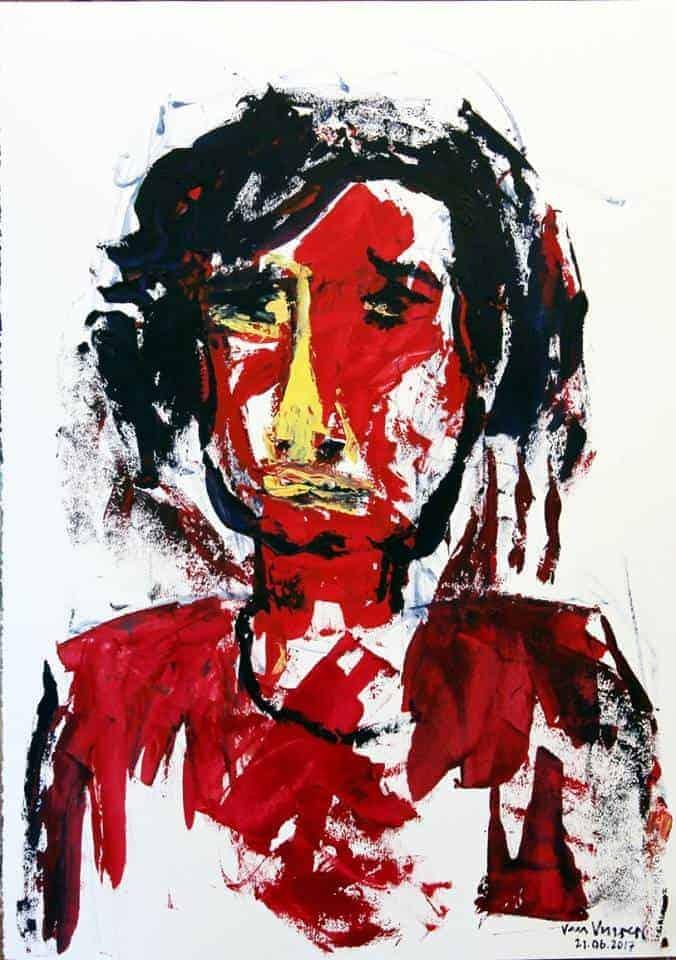 Andre van Vuuren oil on paper