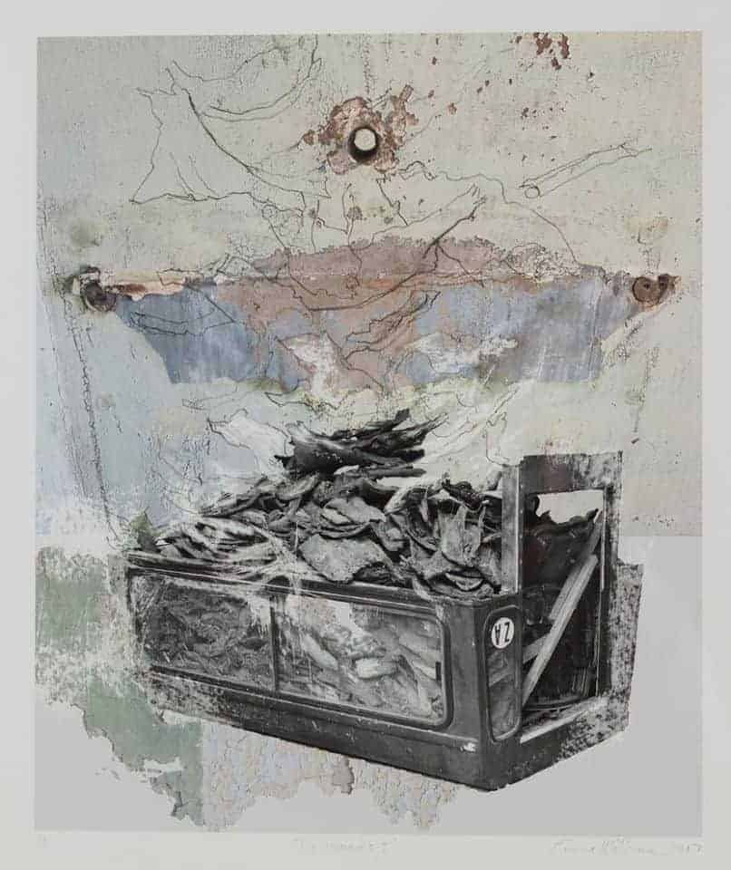 Emma Willemse The remains I (2017) 44 x 38 cm Digital print and mixed media on Hahnemuhle 350gsm