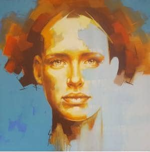 Solly Smook Suoro 80cm x 80cm oil and acrylic on canvas