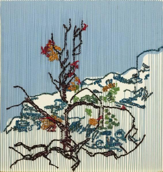 Tamlin Blake 40 Degrees In The Shade- Cederberg 4 2017 38x40cm Newspaper Tapestry