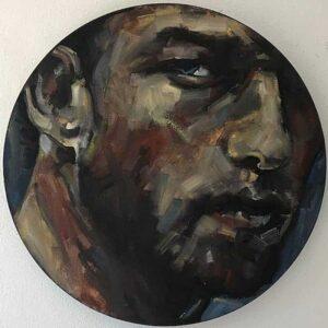 André du Toit : Portrait of a man II. Oil on canvas.
