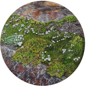 Pippa Lea Pennington : Fissure. Oil on canvas.