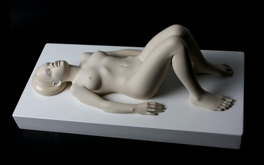 Reclining nude by sculptor Anton Momberg