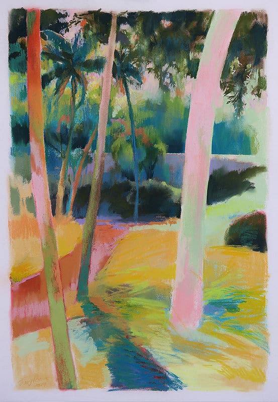Jenny Parsons Kerala Dust Pastel on 100 x 70 cm