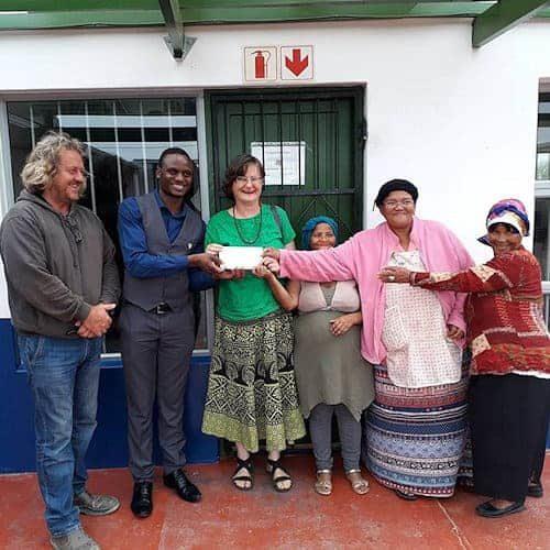Joseph Dhafana donating to Goedgedacht Trust